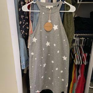 Honey Punch Star Gray Dress